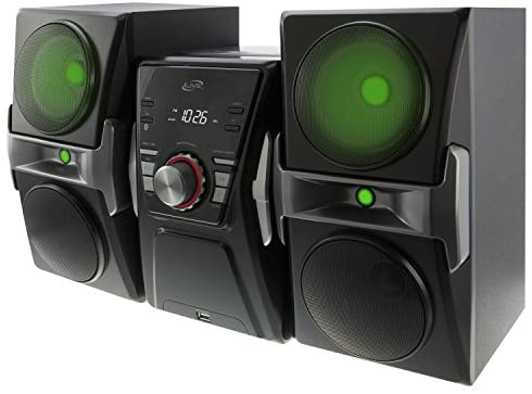 519LxG ma7L. AC  - iLive IHB624B Bluetooth CD and Radio Home Music System with Color Changing Lights, Includes Remote, Black