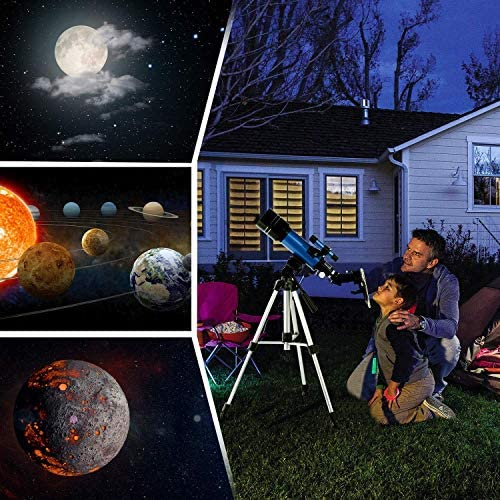 51C7qNbDOIL. AC  - TELMU Telescope, 70mm Aperture 400mm AZ Mount Astronomical Refracting Telescope Adjustable(17.7In-35.4In) Portable Travel Telescopes with Backpack, Phone Adapter