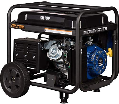 51CSdJ XIaL. AC  - Westinghouse WGen7500 Portable Generator with Remote Electric Start - 7500 Rated Watts & 9500 Peak Watts - Gas Powered - CARB Compliant - Transfer Switch Ready