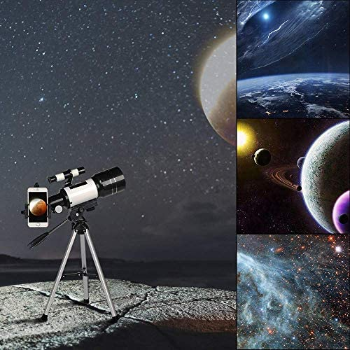 51ETUFfNGiL. AC  - ToyerBee Telescope for Kids& Beginners, 70mm Aperture 300mm Astronomical Refractor Telescope, Tripod& Finder Scope- Portable Travel Telescope with Smartphone Adapter and Wireless Remote