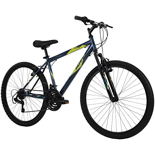 51FErAl48wL - Huffy Hardtail Mountain Bike, Stone Mountain 24 inch 21-Speed, Lightweight, Dark Blue