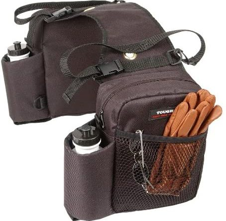 51Ijuw4vBGL. AC  454x445 - Tough 1 Nylon Water Bottle/Gear Carrier Saddle Bag