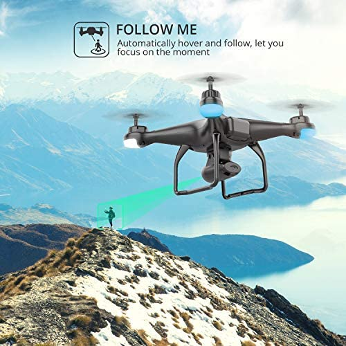 51InKRm9xML. AC  - Holy Stone HS120D GPS Drone with Camera for Adults 2K UHD FPV, Quadcotper with Auto Return Home, Follow Me, Altitude Hold, Tap Fly Functions, Includes 2 Batteries and Carrying Backpack