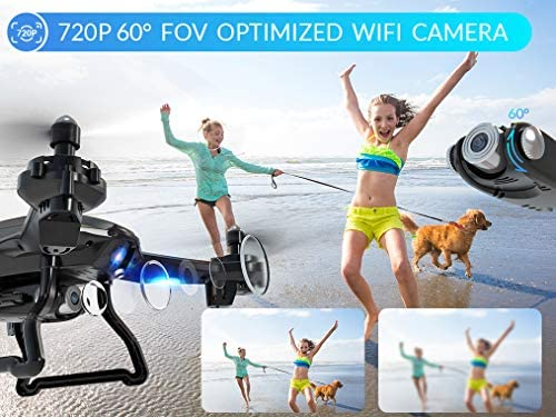 51JM1oRNWYL. AC  - SNAPTAIN S5C WiFi FPV Drone with 720P HD Camera,Voice Control, Wide-Angle Live Video RC Quadcopter with Altitude Hold, Gravity Sensor Function, RTF One Key Take Off/Landing, Compatible w/VR Headset