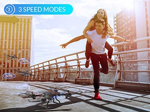 51LJtKv4kXL. AC  - SNAPTAIN S5C WiFi FPV Drone with 720P HD Camera,Voice Control, Wide-Angle Live Video RC Quadcopter with Altitude Hold, Gravity Sensor Function, RTF One Key Take Off/Landing, Compatible w/VR Headset