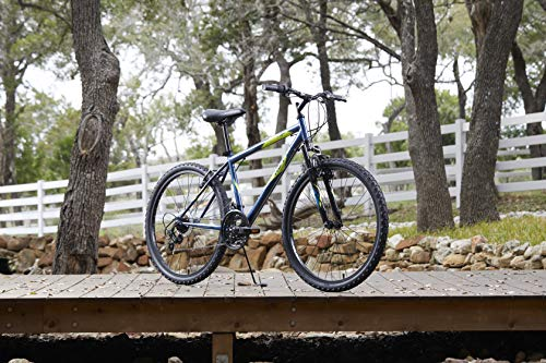 51Louje3kFL - Huffy Hardtail Mountain Bike, Stone Mountain 24 inch 21-Speed, Lightweight, Dark Blue