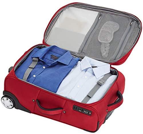 51T5T7EiDOL. AC  - AmazonBasics Upright Spinner Expandable Softside Suitcase Luggage with TSA Lock and Wheels