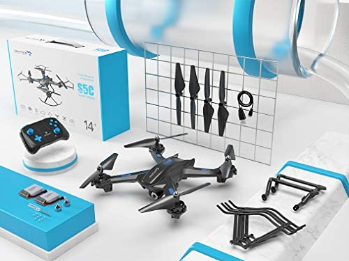 51Tubxg2mnL. AC  - SNAPTAIN S5C WiFi FPV Drone with 720P HD Camera,Voice Control, Wide-Angle Live Video RC Quadcopter with Altitude Hold, Gravity Sensor Function, RTF One Key Take Off/Landing, Compatible w/VR Headset