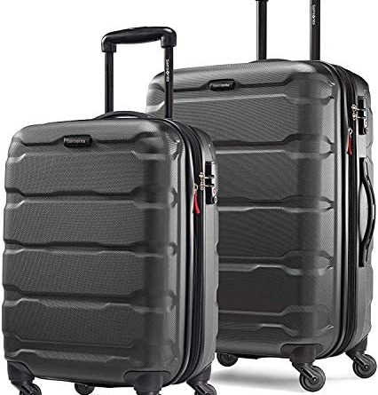 51TzxR2yJcL. AC  426x445 - Samsonite Omni PC Hardside Expandable Luggage with Spinner Wheels, Black, 2-Piece Set (20/24)