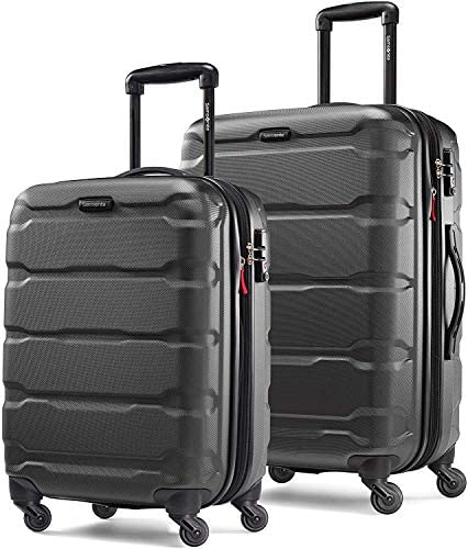 51TzxR2yJcL. AC  - Samsonite Omni PC Hardside Expandable Luggage with Spinner Wheels, Black, 2-Piece Set (20/24)