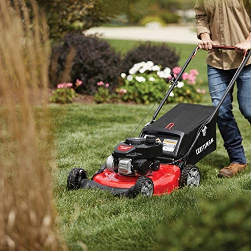 51UU99MbNiL. AC  - CRAFTSMAN M105 140cc 21-Inch 3-in-1 Gas Powered Push Lawn Mower with Bagger