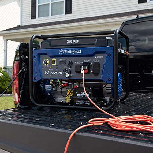 51ZRxDQT5LL. AC  - Westinghouse WGen7500 Portable Generator with Remote Electric Start - 7500 Rated Watts & 9500 Peak Watts - Gas Powered - CARB Compliant - Transfer Switch Ready