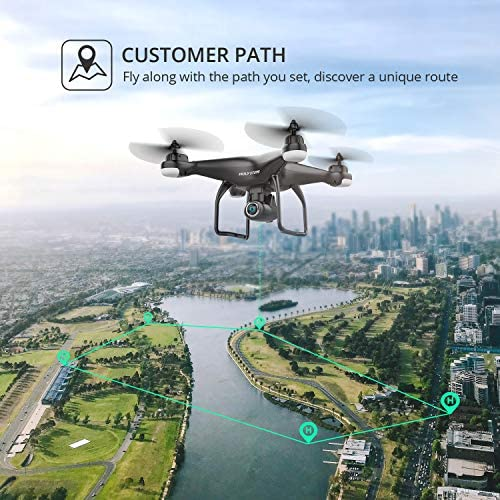 51ajFTXG1dL. AC  - Holy Stone HS120D GPS Drone with Camera for Adults 2K UHD FPV, Quadcotper with Auto Return Home, Follow Me, Altitude Hold, Tap Fly Functions, Includes 2 Batteries and Carrying Backpack