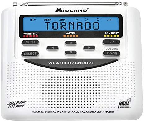 51bgS9oG6cL. AC  - Midland - WR120B/WR120EZ - NOAA Emergency Weather Alert Radio - S.A.M.E. Localized Programming, Trilingual Display, 60+ Emergency Alerts, & Alarm Clock (WR120B - Box Packaging)