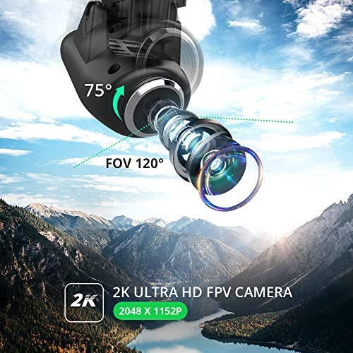 51fJkuDG7nL. AC  - Holy Stone HS120D GPS Drone with Camera for Adults 2K UHD FPV, Quadcotper with Auto Return Home, Follow Me, Altitude Hold, Tap Fly Functions, Includes 2 Batteries and Carrying Backpack