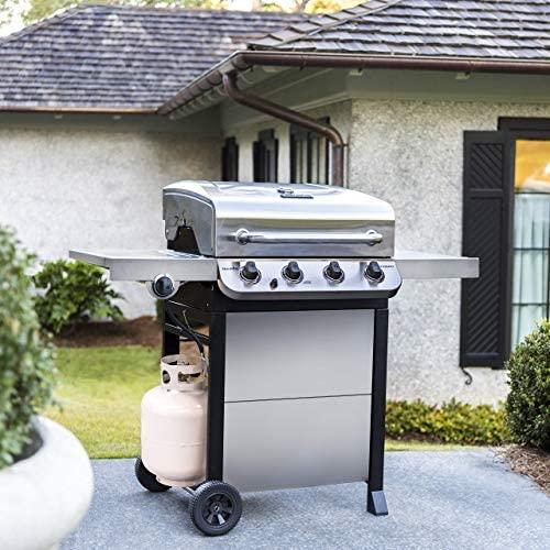 51gLU1Vgo9L. AC  - Char-Broil 463377319 Performance 4-Burner Cart Style Liquid Propane Gas Grill, Stainless Steel