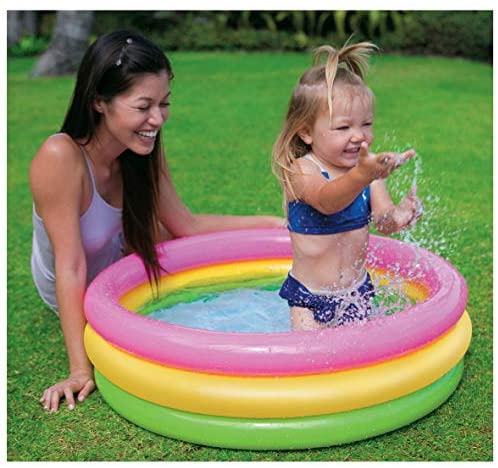 51gQlUiGmzL. AC  - Intex Sunset Glow Baby Pool (34 in x 10 in)