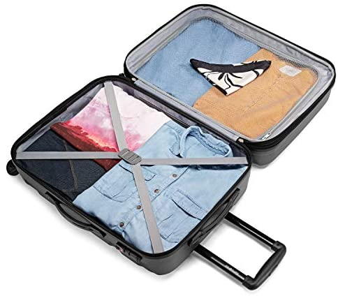 51jG27 4WIL. AC  - Samsonite Omni PC Hardside Expandable Luggage with Spinner Wheels, Black, 2-Piece Set (20/24)