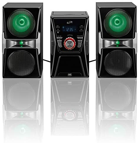 51myVZ 1fjL. AC  - iLive IHB624B Bluetooth CD and Radio Home Music System with Color Changing Lights, Includes Remote, Black