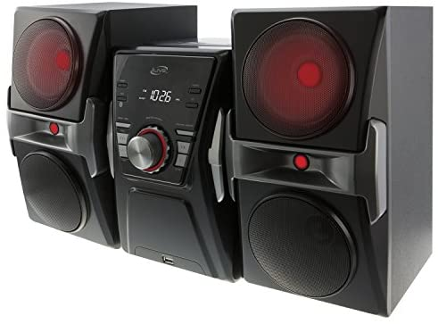 51yC1yvUmPL. AC  - iLive IHB624B Bluetooth CD and Radio Home Music System with Color Changing Lights, Includes Remote, Black