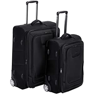 55d7bd18 b5d1 4644 a2f1 ba2d1376bfcf. CR0,0,2468,2468 PT0 SX300   - AmazonBasics Upright Spinner Expandable Softside Suitcase Luggage with TSA Lock and Wheels