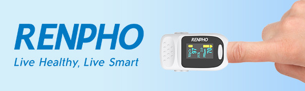 5eae1963 c62d 4e58 8cd2 18b6eac77902.  CR0,0,600,180 PT0 SX600 V1    - Pulse Oximeter Fingertip, RENPHO Accurate Reading Pediatric and Adult Oxygen Monitor Medical Use, Easy to Use Blood Oxygen Saturation Meter, Batteries and Lanyard, Spo2 Oximeter Portable with Alarm