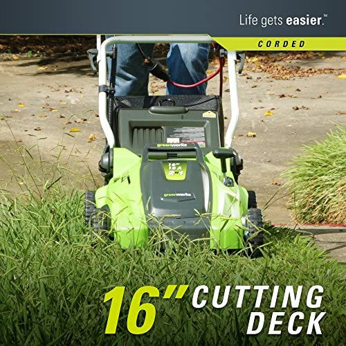 612ctZGJNJL. AC  - Greenworks 16-Inch 10 Amp Corded Electric Lawn Mower 25142