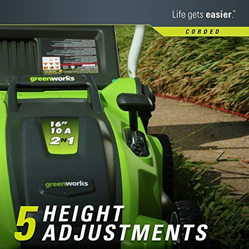 618t6WZkHPL. AC  - Greenworks 16-Inch 10 Amp Corded Electric Lawn Mower 25142