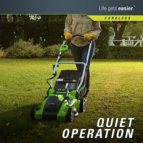 61A8BqIDopL. AC  - Greenworks G-MAX 40V 16'' Cordless Lawn Mower with 4Ah Battery - 25322 model