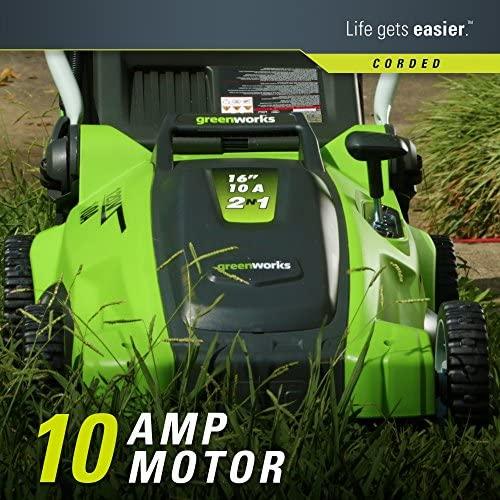 61OV0 aa5AL. AC  - Greenworks 16-Inch 10 Amp Corded Electric Lawn Mower 25142