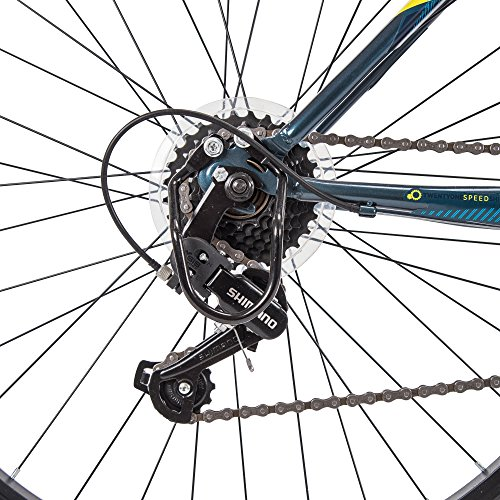 61saPle2fYL - Huffy Hardtail Mountain Bike, Stone Mountain 24 inch 21-Speed, Lightweight, Dark Blue