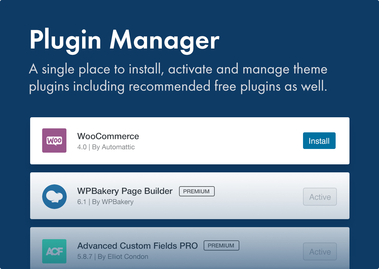7 plugin installer - Kalium - Creative Theme for Professionals