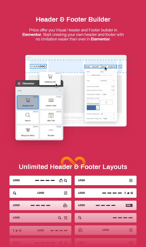 8 header footer builder - Phlox Pro - Elementor MultiPurpose WordPress Theme