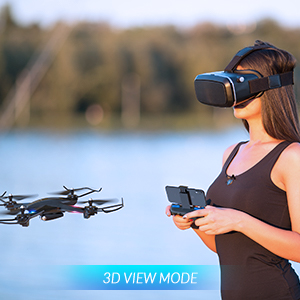 943a54aa 4f3e 41c2 b66f 42e2d3c8b806. CR0,0,300,300 PT0 SX300   - SNAPTAIN S5C WiFi FPV Drone with 720P HD Camera,Voice Control, Wide-Angle Live Video RC Quadcopter with Altitude Hold, Gravity Sensor Function, RTF One Key Take Off/Landing, Compatible w/VR Headset