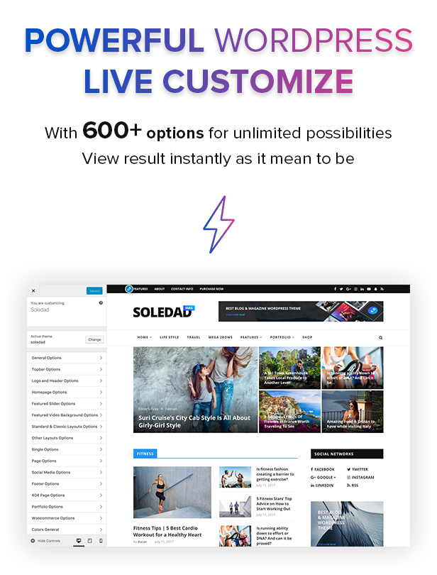 B2 LiveCustomize60 - Soledad - Multi-Concept Blog Magazine WordPress Theme
