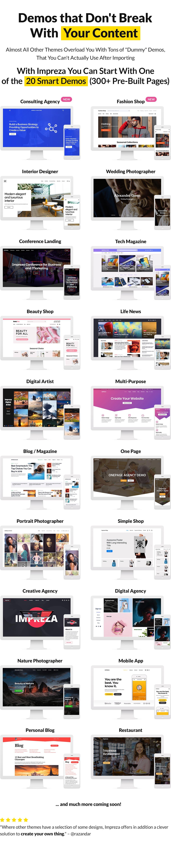 DEMOS - Impreza – Multi-Purpose WordPress Theme
