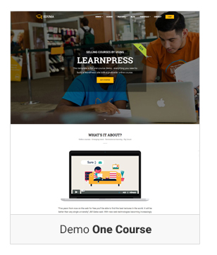 Education WordPress theme Dem One course - Education WordPress Theme | Eduma