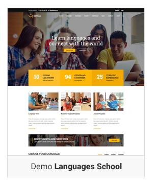 Education WordPress theme Demo Language school - Education WordPress Theme | Eduma