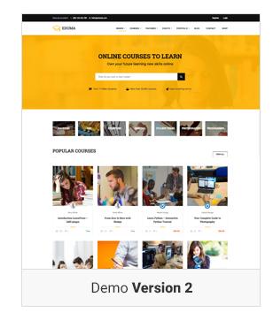 Education WordPress theme Demo v2 - Education WordPress Theme | Eduma