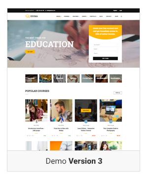 Education WordPress theme Demo v3 - Education WordPress Theme | Eduma