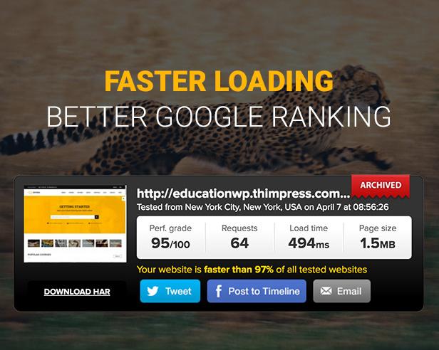 Education WordPress theme Faster speed - Education WordPress Theme | Eduma