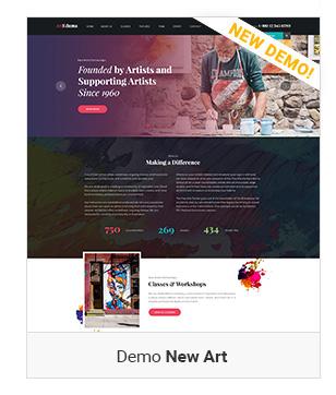 Left demo New art - Education WordPress Theme | Eduma
