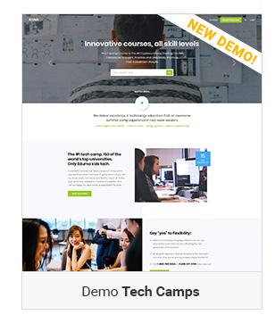 Left demo Tech camps - Education WordPress Theme | Eduma