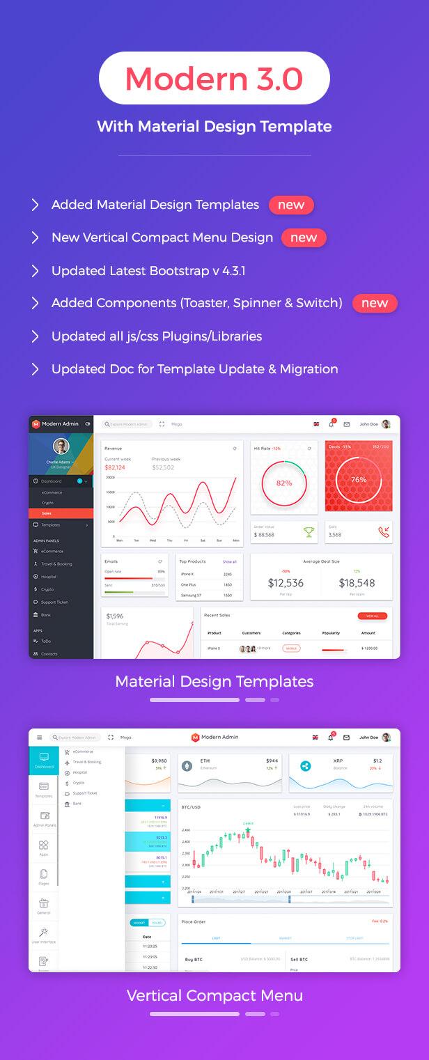 WTRkJq2 - Modern Admin - Clean Bootstrap 4 Dashboard HTML Template + Material Design