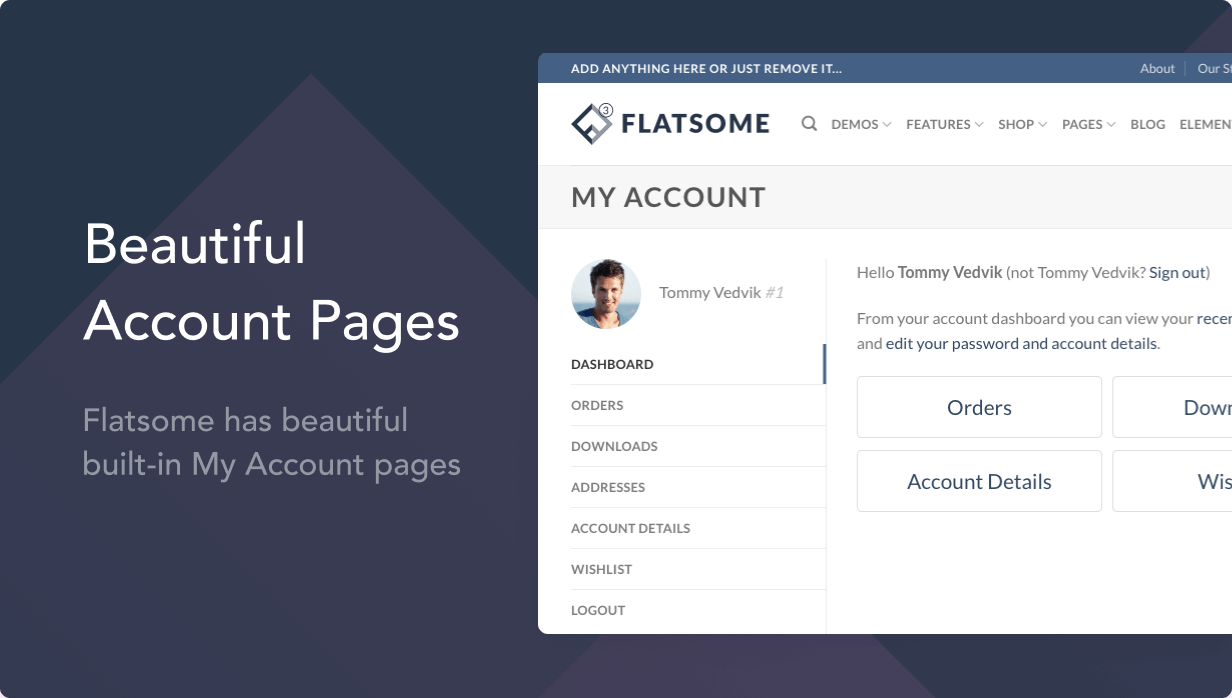 account pages - Flatsome | Multi-Purpose Responsive WooCommerce Theme