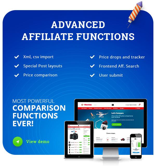 affiliate theme wp - REHub - Price Comparison, Multi Vendor Marketplace, Affiliate Marketing, Community Theme