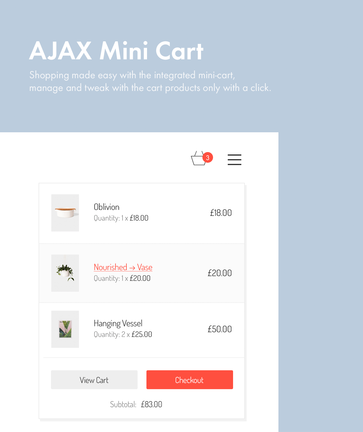 ajax mini cart - Kalium - Creative Theme for Professionals