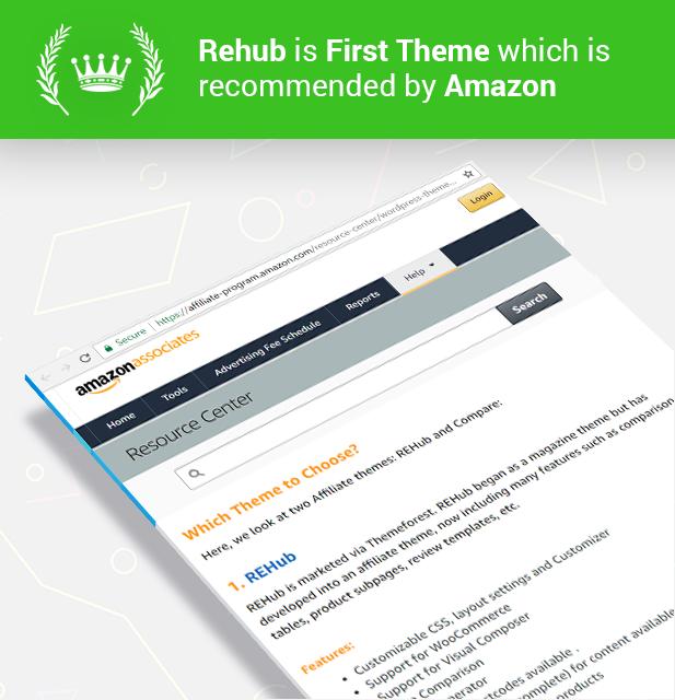 amazontheme - REHub - Price Comparison, Multi Vendor Marketplace, Affiliate Marketing, Community Theme
