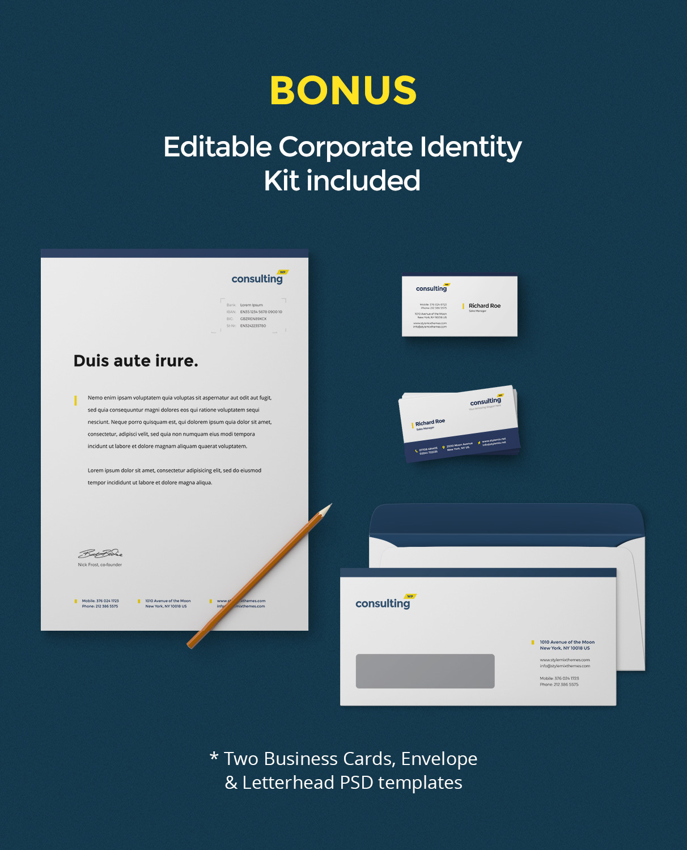 bonus - Consulting - Business, Finance WordPress Theme