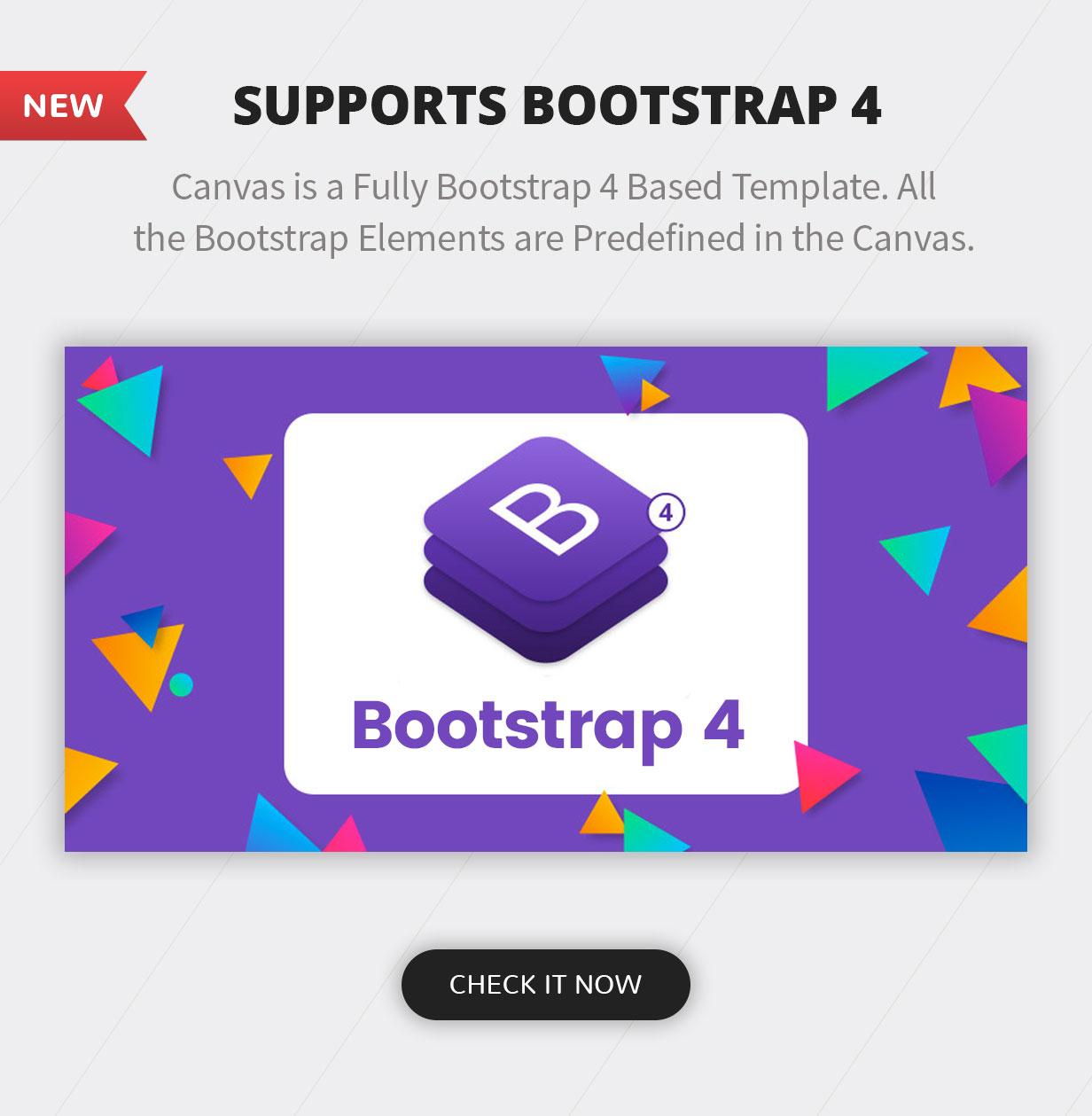 bootstrap 4.0 - Canvas   The Multi-Purpose HTML5 Template